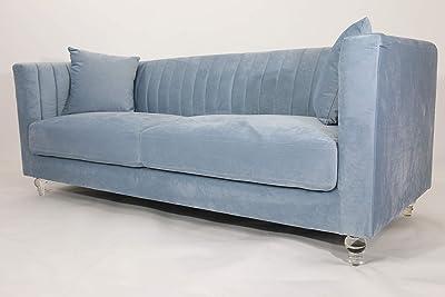 Danube Home Catriona 3 Seater Fabric Sofa - Light Blue