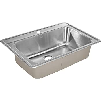 ZUHNE Drop-In Kitchen Sink Stainless Steel (33 by 22 Single Bowl)