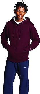Champion Men's Powerblend Fleece Full Zip Hoodie, C Logo