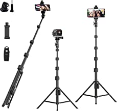 """Selfie Stick Tripod,54"""" Extendable Camera Selfie Stick with Tripod Stand and Detachable Wireless Remote Shutter for iPhone..."""