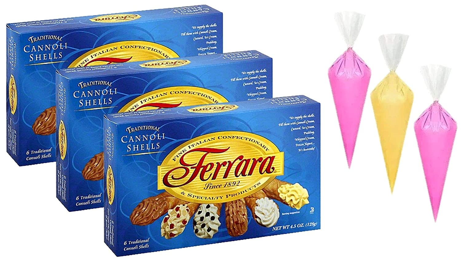 Ferrara - Traditional Purchase Cannoli Shells 4.5 of Pack 3 oz. Max 44% OFF Boxes
