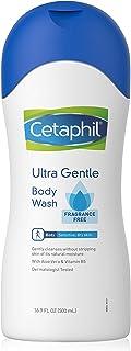 Cetaphil Ultra Gentle Body Wash, Fragrance Free, 16.9 Fl Oz (Pack of 3)