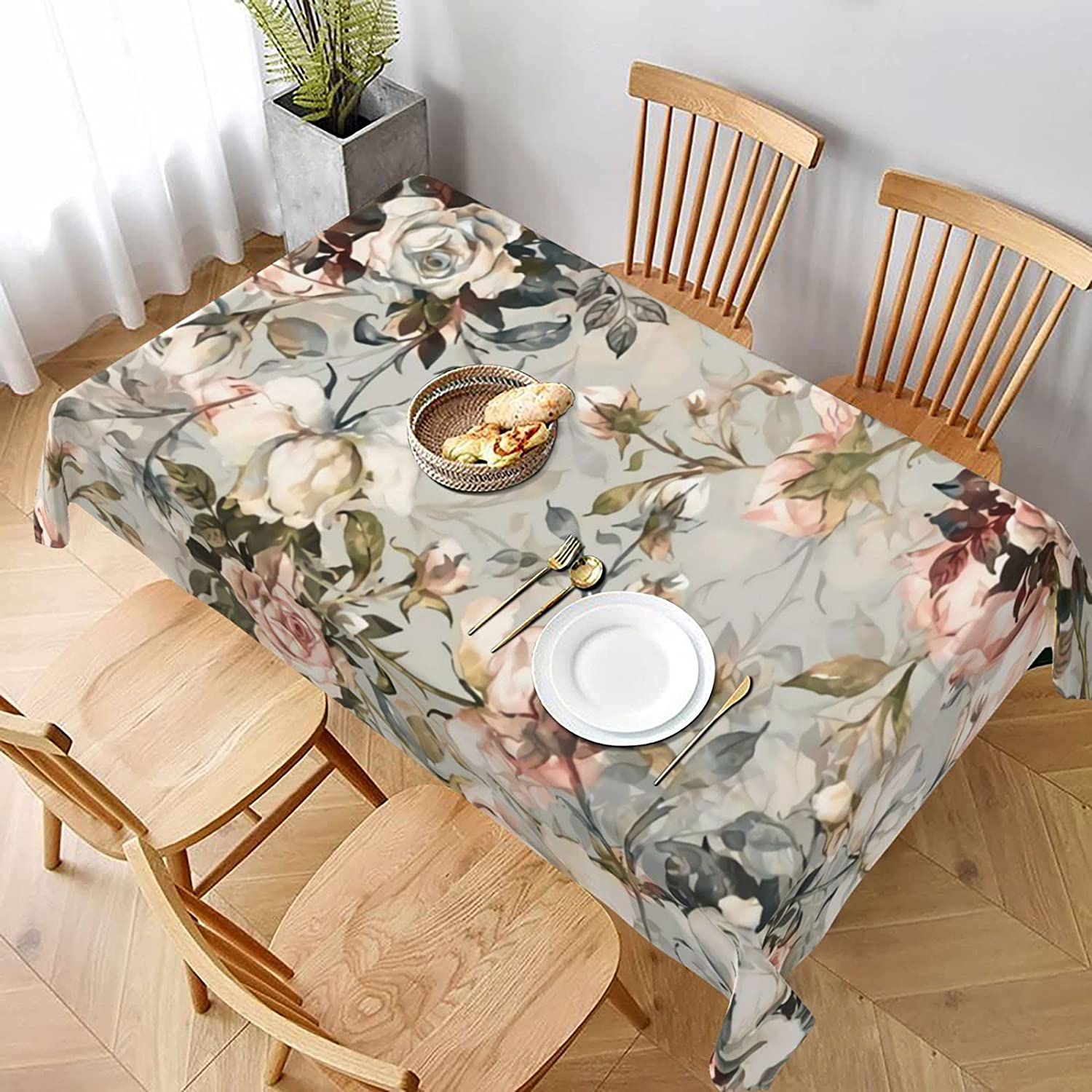 Tablecloth Rectangle 60x90 Bargain sale Inch Sea Watercolor Dining Seattle Mall Waterproof