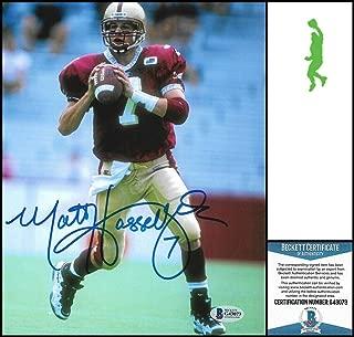 Matt Hasselbeck Signed Picture - 8x10 Bc Beckett Bas Coa - Beckett Authentication - Autographed NFL Photos