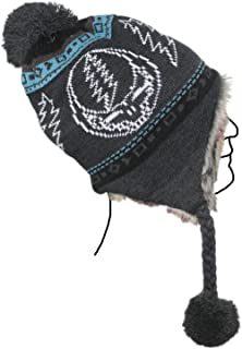Knit Ski Hat with Ear Flaps Faux Fur Lining and Pom Pom - 4 Designs