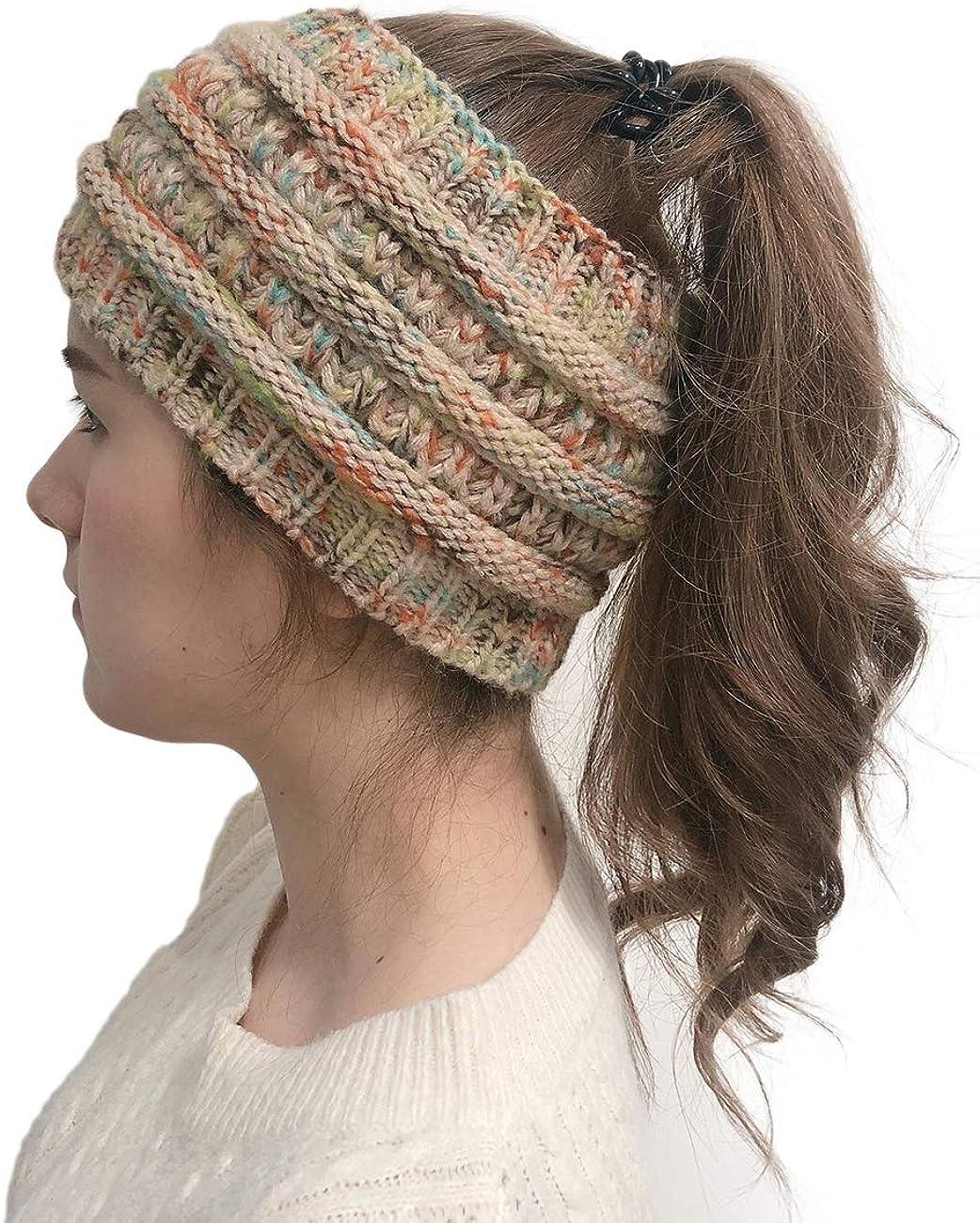 Knit half Winter Headband Warm security Cable Headban Crochet Wrap Turban Head