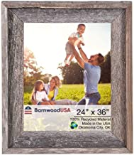BarnwoodUSA Rustic Farmhouse Signature Picture Frame - Our 24x36 Picture Frame can be Mounted Horizontally or Vertically and is Crafted from 100% Recycled and Reclaimed Wood | No Assembly Required