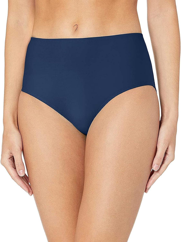 Women's Swim Briefs Midi Waist Bikini Bottoms Swimsuit Tankini Bottoms Solid Color Swimming Short