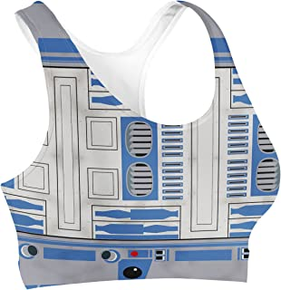 Rainbow Rules Little Blue Droid Sports Bra