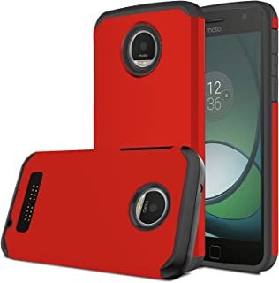 4f5f72e0c8b Moto Z Play Case, Venoro [Shockproof] Slim Hybrid Dual Layer Armor Defender  Rugged Protective Case Cover for Motorola Moto Z Play/Moto Z Play Droid  (Red)