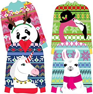 Big Dot of Happiness Wild and Ugly Sweater Party - Sweater Decorations DIY Holiday and Christmas Animals Party Essentials - Set of 20