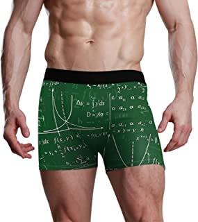 NaiiaN Mens Briefs Bulge Pouch Stretch Boxer Trunk Study Math Graphics Learn Cool