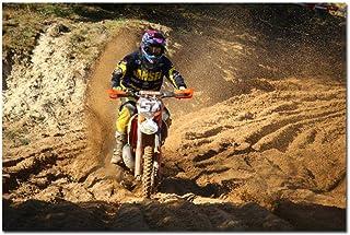 VVSUN Cartel de Juego de Motocicleta Auto Motocross Carteles de Seda Impresiones de Motos Deportes para Hombre Decoración ...