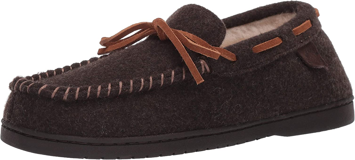 Fireside by Dearfoams Men's Moccasin Slipper