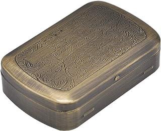 healthwen Caja de Cigarrillos de Metal portátil, Caja de Cigarrillos de Metal humidor de Caja de Tabaco Caja de Cigarrillo...