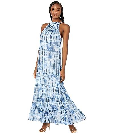 LAUREN Ralph Lauren Karmina Sleeveless Day Dress (Navy/Blue/Multi) Women
