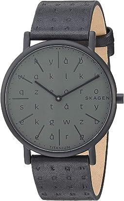 Signatur Slim Alphabet Print Titanium Case - SKW6490