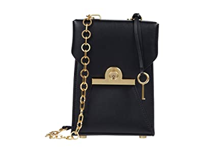 ZAC Zac Posen Amelia Phone Crossbody (Black) Handbags