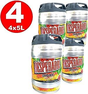 4 x Desperados cerveza con tequila en 5 litros barril incl. Espita 5,9% vol.