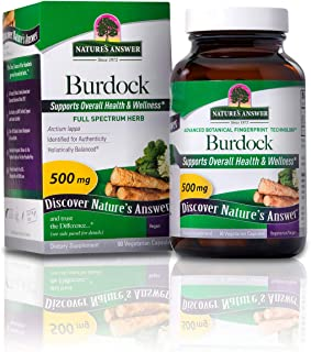 Burdock Root - 90 Vegetarian Capsules by Nature's Answer