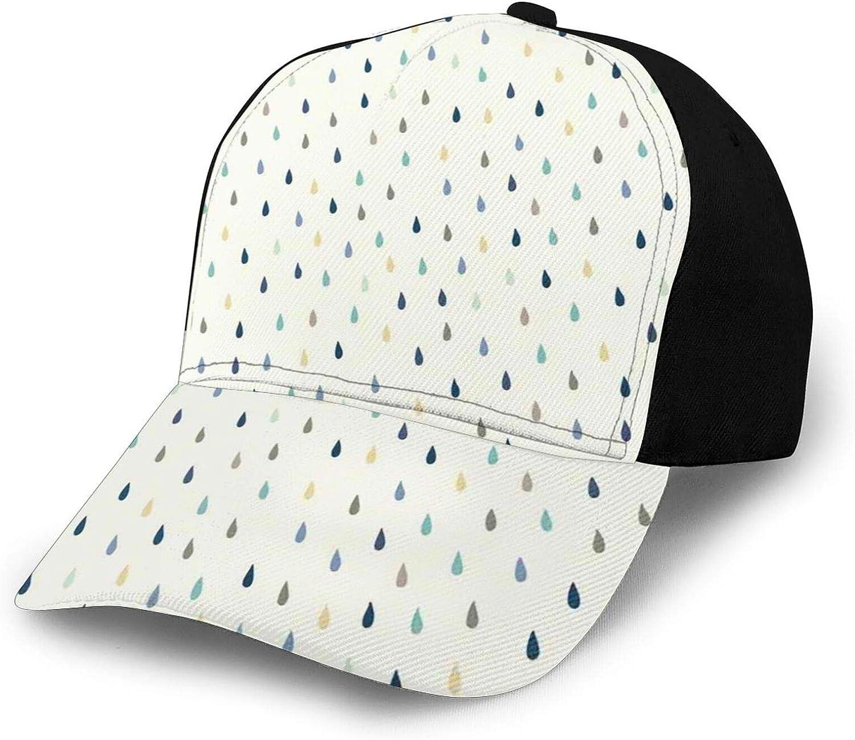 Hip Hop Sun Hat Baseball Cap,Saturated Spherical Teardrop Shaped Rain Water Drops Particles Design Fusion Image,Fisherman Beach Hat Sun Protection Purple for Men&Women