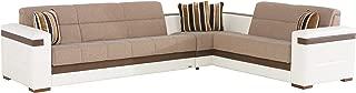 ISTIKBAL Multifunctional Furniture Living Room SECTIONAL SOFA SLEEPER Platin Mustard MOON Collection