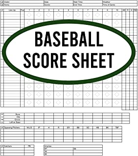 Baseball Score Sheet: 120 Pages Baseball Score Sheet, Baseball Scorekeeper Book, Baseball Scorecard