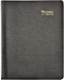 Brownline 11 X 8.5 Inches 2015 Monthly Planner, Academic 16 Months for September 2014-December 2016 with Twin-Wire, Black (CB1260.BLK-15)