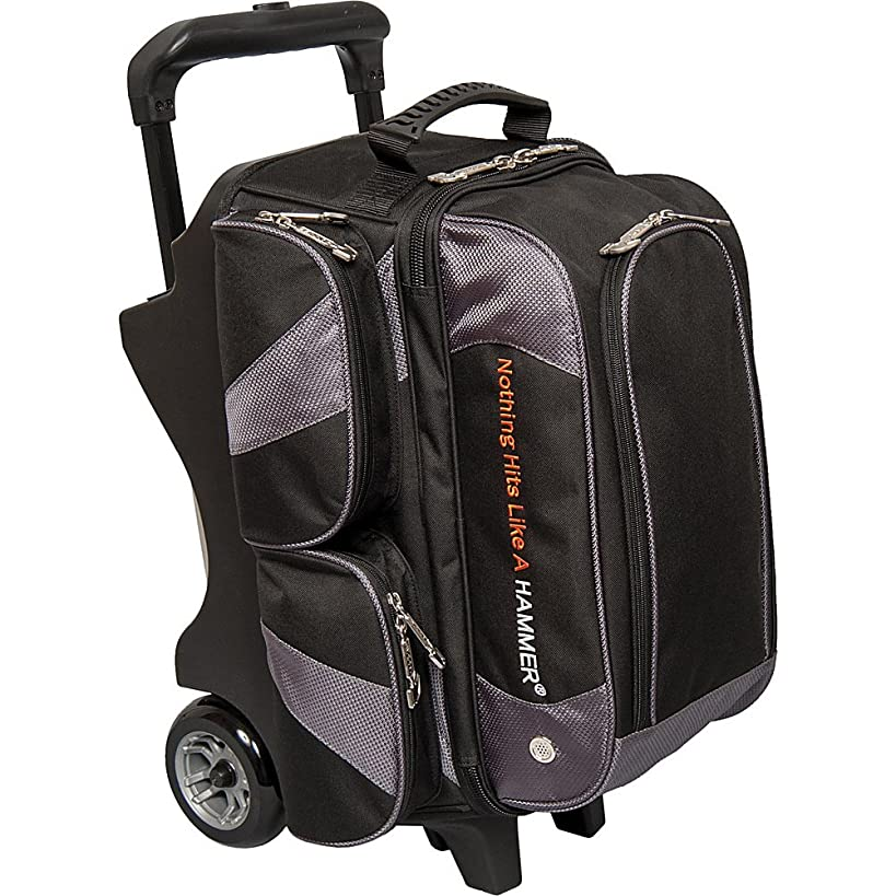 Hammer Premium 2 Ball Roller Bowling Bag- Black/Carbon