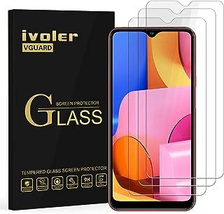 ivoler 3-pack skärmskydd för Samsung Galaxy A20s, härdat glasfilm för Samsung Galaxy A20s [9H hårdhet] [Anti-rep] [bubbelf...