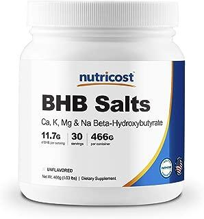 Nutricost Keto BHB Exogenous Ketones 4-in-1 (30 Serv) 12g Beta-Hydroxybutyrate (BHB) Per Serving, (Unflavored) - Ketone Salts