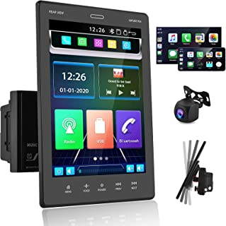 """$139 » Double Din Car Stereo Audio Receivers with Apple D-Play Bluetooth AHD Backup Camera 9.5"""" Touch Screen Car Radio MP5 Player..."""