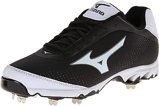 Mizuno Men's Vapor Elite 7 Low Baseball Cleat, Black/White/Black, 14 M US