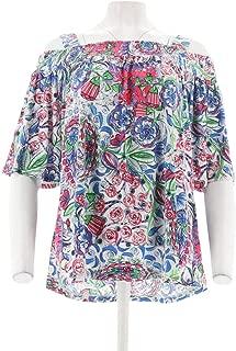 Susan Graver Liquid Knit Off-The-Shoulder Top A306502