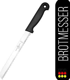 Schwertkrone Brotmesser Basic Solingen - Wellenschliff mit leichtem Kunststoffgriff, Edelstahl, rostfrei