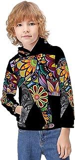 Kid's Novelty Sweater Steering Wheel Charts Chains Hoodie Teen's Long Sleeve Sportswear Fleece Hood Pullover-