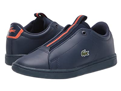 Lacoste Kids Carnaby Evo Easy 319 1 (Little Kid) (Navy/Orange) Kid