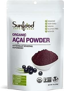 Sunfood Superfoods Acai Powder, Organic. 4 oz Bag