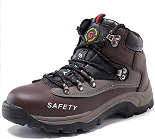 SUADEX Men Women Steel Toe Shoes Work Safety Indestructible Shoes Leather Winter Work Boots