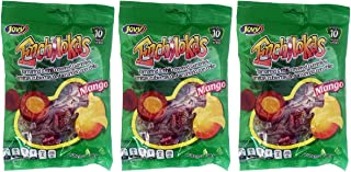 Jovy Enchilokas Mango Flavored & Tamarind Covered Gummies with Chilli   Mexican Candy   Chilli - Covered Snacks   Pack of 3 6oz each