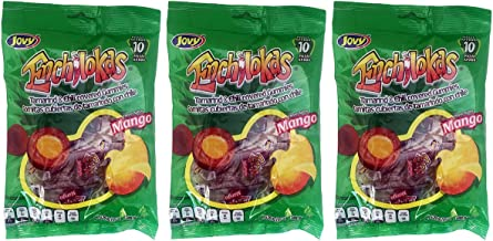 Jovy Enchilokas Mango Flavored & Tamarind Covered Gummies with Chilli | Mexican Candy | Chilli - Covered Snacks | Pack of 3 6oz each