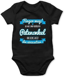 Shirtracer Sprüche Baby - Ich Habe einen verrückten Patenonkel blau - Baby Body Kurzarm für Jungen und Mädchen