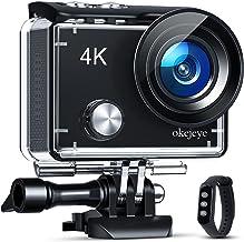 okejeye OK600 4K Action Camera Touch Screen 131ft...