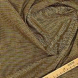 kawenSTOFFE Baumwollstoff Pepita Gelb Vichy kleingemustert