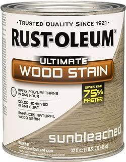 Rust-Oleum 260155 Ultimate Wood Stain, Quart, Sunbleached