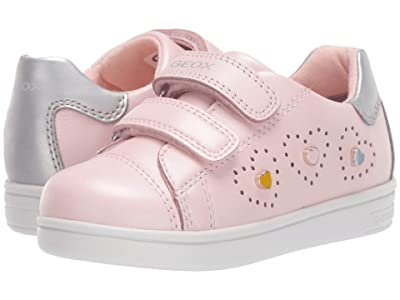 Geox Kids Djrock 18 (Toddler) (Pink/Silver) Girl