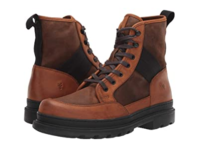 Frye Scout Boots (Brown Multi WP Rugged Nubuck/WP Waxed Suede/Waxy Canvas) Men