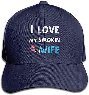 Baseball Caps Love My Smokin Hot Wife Unisex Snapback Hat Adjustable Visor Cap Black