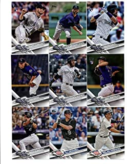 (1) 2017 Topps Series 1 2 Colorado Rockies Team Set of 28 Cards And