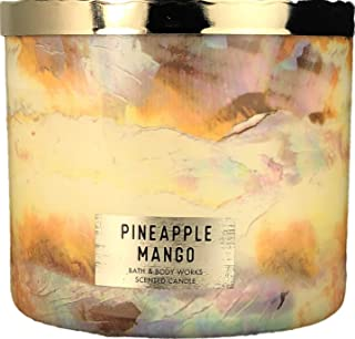 Bath and Body Works Pineapple Mango Scented 3 Wick Candle 14.5 Ounce